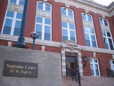 The Missouri Supreme Court building in Jefferson City, Mo.
