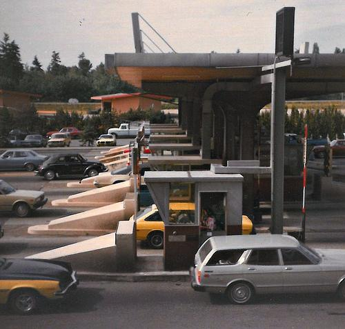 A toll plaza in Medina, Washington