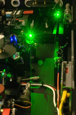 A look at an ultrafast laser system in action at Washington University in St. Louis' Ultrafast Laser Facility.