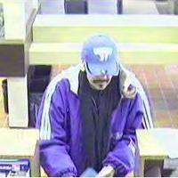 This man is suspected in the first of three bank robberies in the St. Louis area on Wednesday. He robbed the First Bank at 7256 Gravois.