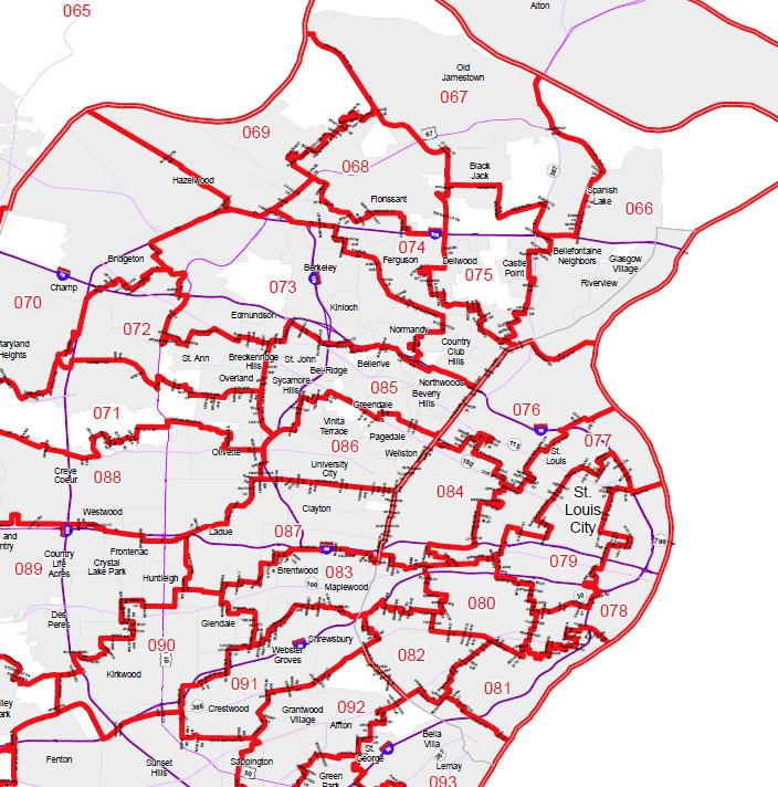 A Cole County judge has rejected a legal challenge to new State House . The portion shown here is the St. Louis region.