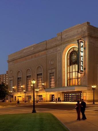 Powell Hall, the home of the St. Louis Symphony.