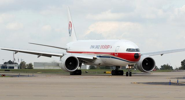 A Chinese cargo plane lands at Lambert Airport on Sept. 23, 2011. The country was Missouri's third largest trading partner in 2011, which was a record year for exports from the state.