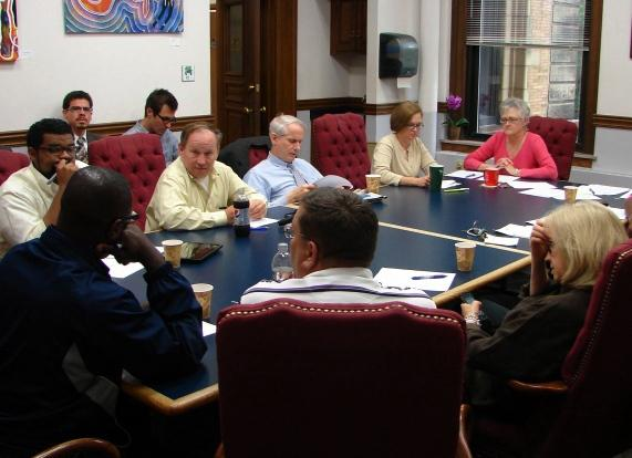 The St. Louis Board of Aldermen's Legislation Committee meets to discuss cutting the number of aldermen on the board from 28 to 12.