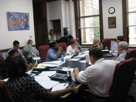 The Ways and Means committee of the St. Louis Board of Aldermen meets to discuss next year's spending plan for the city.