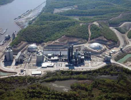 Holcim's cement manufacturing plant in Ste. Genevieve.
