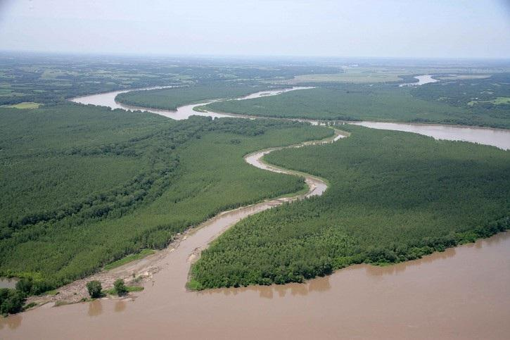Jameson Island and Lisbon Bottom in the Big Muddy National Fish and Wildlife Refuge.
