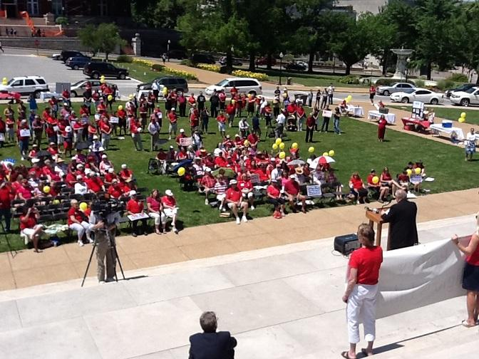 Bishop John Gaydos addresses the crowd at a rally on June 8th, 2012, opposing President Obama's contraceptive mandate.