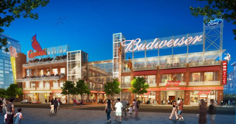 A German restaurant and a Cardinals store and museum are already planned for the first phase, and more tenant announcements are expected soon.