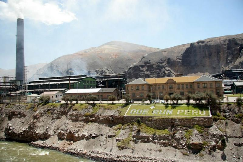The Doe Run facility in La Oroya, Peru.