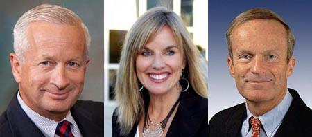 The three main candidates in the GOP Senate Primary.   From left: John Brunner, Sarah Steelman, Todd Akin