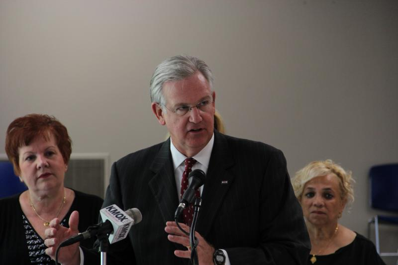 Mo. Gov. Jay Nixon at a ceremonial bill signing in St. Louis on Wednesday, July 11.