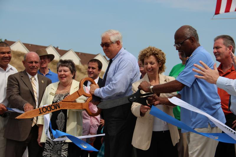 Federal, state and local officials celebrated the completion of the relocated Route 141 project and the Page-Olive Connector on Saturday, July 14, 2012.