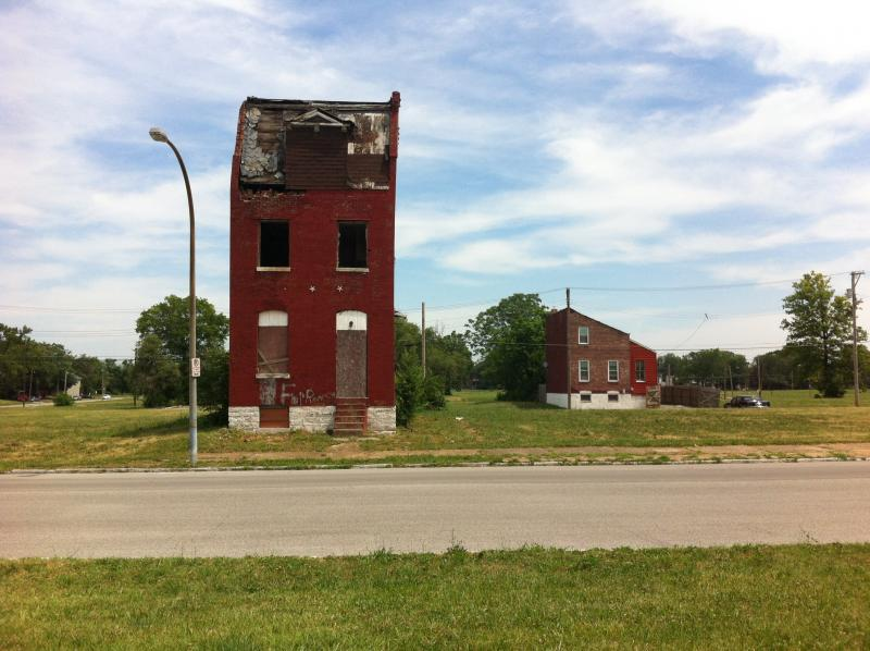 Taken in the 3rd Ward, north of the old Pruitt-Igoe housing project in St. Louis.