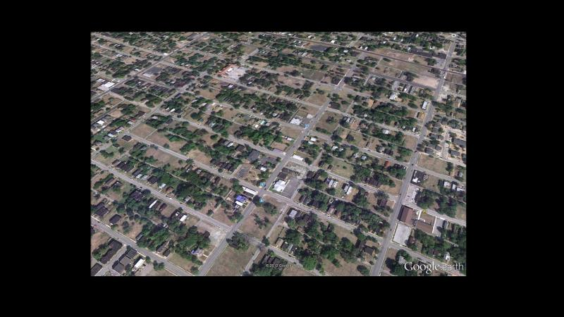 A Google Earth view of a section of north St. Louis.
