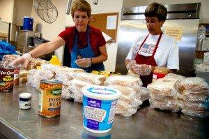 Volunteers at the Bridge in downtown St. Louis have helped the agency serve 750,000 meals in its six years