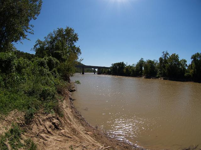 The Meramec River at an unidentified location.