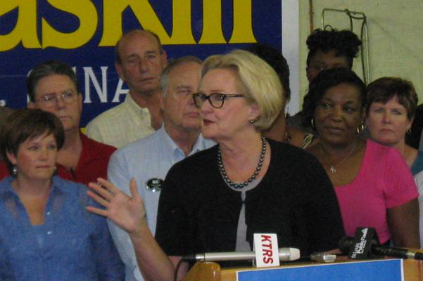 Claire McCaskill at a campaign event on Aug. 10, 2012.