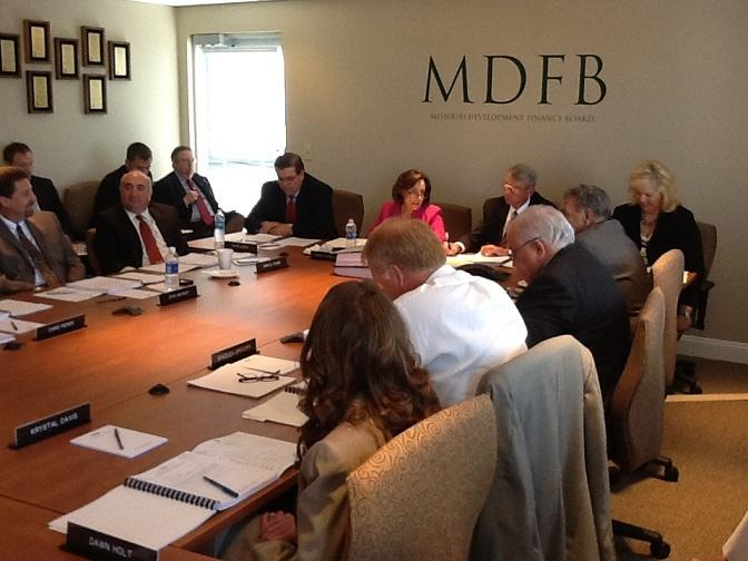 The Mo. Development Finance Board meets in Jefferson City on 8/21/2012.