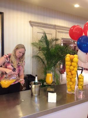Mimosas at the hotel where Illinois delegates for the Republican National Convention are staying this week.