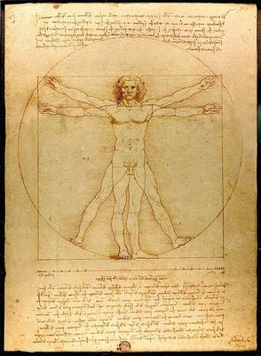 """Vitruvian Man"" by Leonardo da Vinci. (Want to learn more about this famous image? Check out a link to an NPR piece with more background under our story below)."