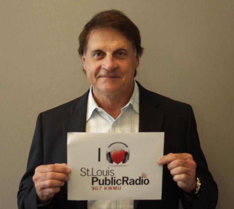 Tony La Russa at the St. Louis Public Radio studios