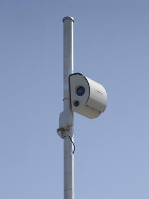 An example of the speed cameras that will be installed in Calverton Park by contractor American Traffic Solutions.