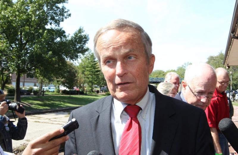 Congressman Todd Akin after a press conference in Kirkwood, Mo. on Sept. 24, 2012.