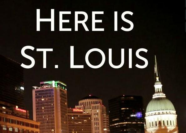 A screen capture of the title frame of 'Here is St. Louis.' The video, by Anastasis Films, has been making the social media rounds today.