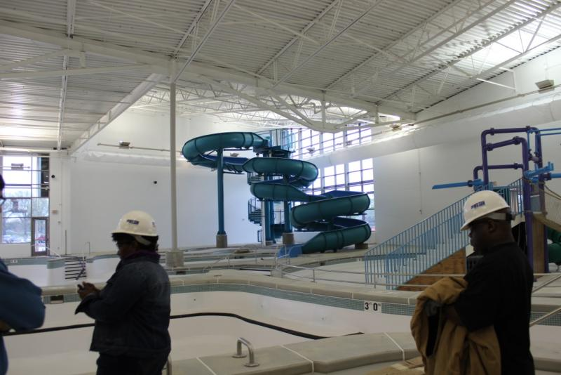 A deal between the mayor's office and the Aldermanic Black Caucus means the O'Fallon recreation center, pictured here during a summer tour, could open early next year after a year delay