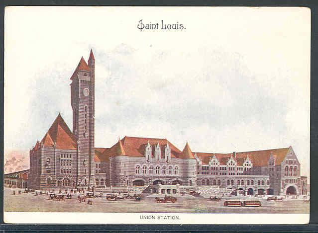 St. Louis Union Station circa 1909