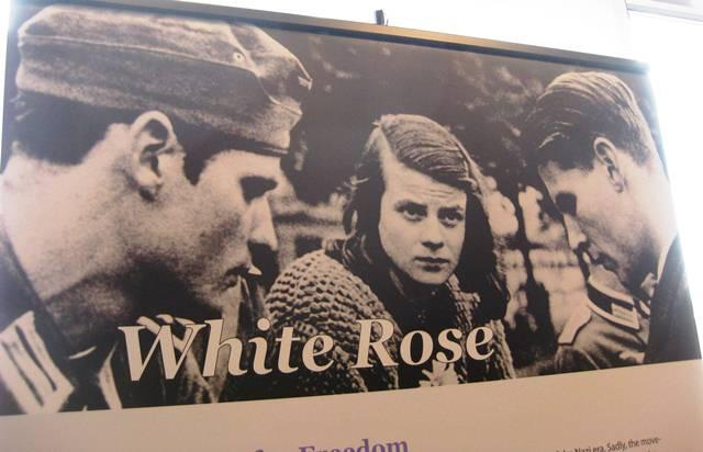 "The exhibit's name, ""Long Live Freedom,"" comes from the last words spoken by Hans Scholl (far left) as he was executed by decapitation for his participation in a group known as ""White Rose."""
