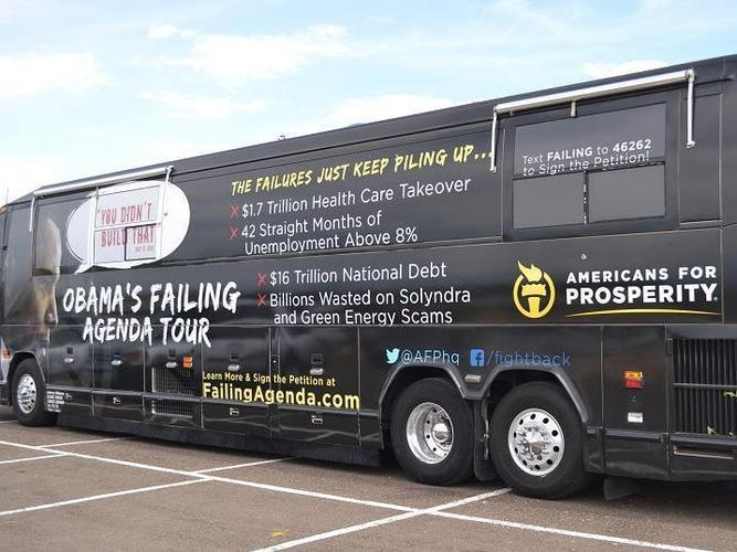 "Americans for Prosperity is bringing its ""Obama's Failing Agenda"" bus tour to Missouri."