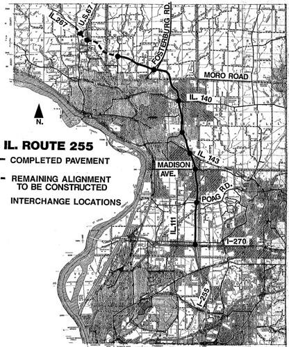 A map of the 255 project.