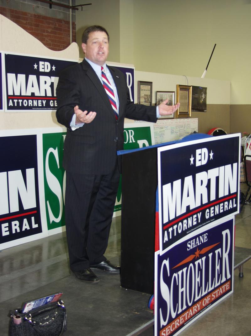 "Republican Attorney General candidate Ed Martin calls voter I.D. laws ""common sense."""