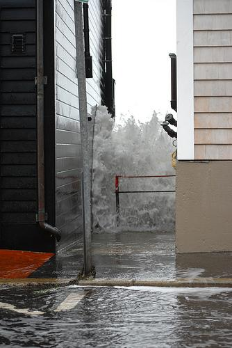 Hurricane Sandy floods parts of Marblehead, Massachusetts, a coastal city just north of Boston.