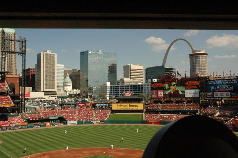 The view Hays had of Busch Stadium from his seat at the organ at Busch Stadium in 2010.