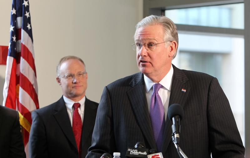 Missouri Governor Jay Nixon in St. Louis on Nov. 29, 2012. Nixon announced that he supports an expansion of Medicaid.