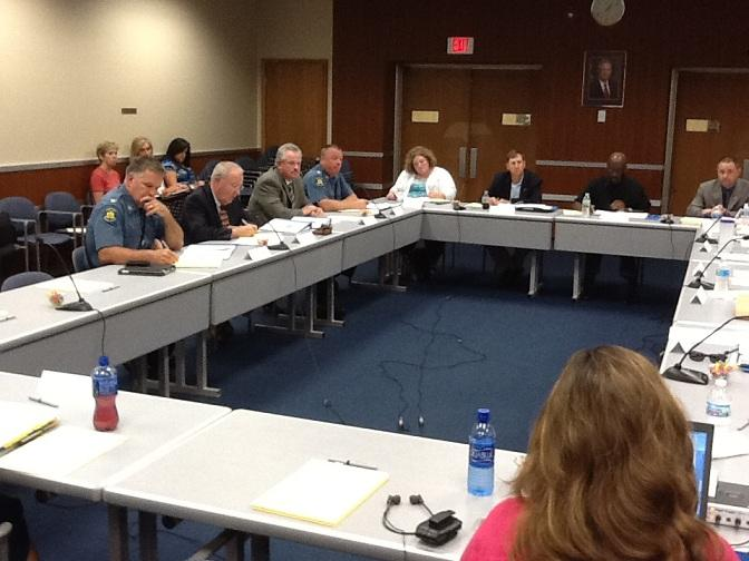 A recent meeting of the special committee reviewing health insurance benefits for MoDOT workers and State Troopers.