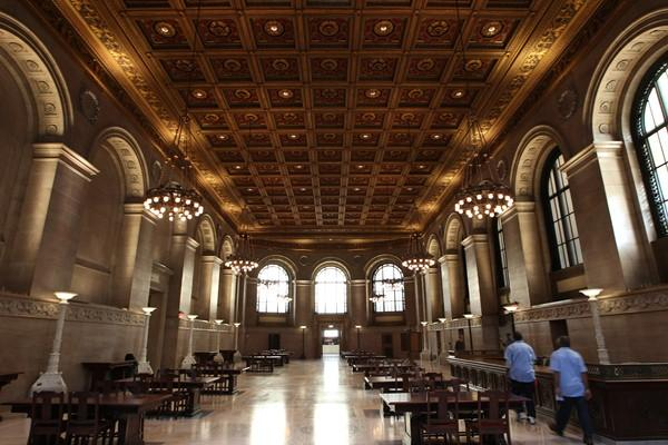 The Grand Hall of the main branch of the St. Louis Public Library