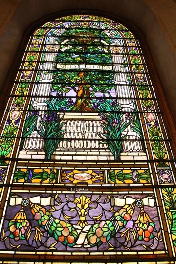 Stained glass windows have been cleaned and repaired at the main branch of the St. Louis Public Library