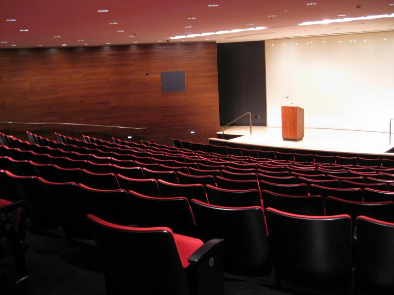 Today, that 'coal bin' space holds a 250-seat auditorium.