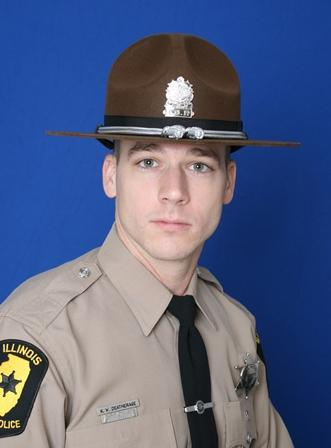 The driver who struck and killed Illinois State Police trooper Kyle Deatherage, pictured here, has been ordered to stop driving because of medical conditions.