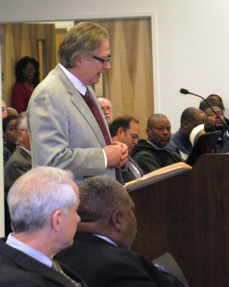 Cortex CEO Dennis Lower makes his request for $35 million from the St. Louis TIF Commission