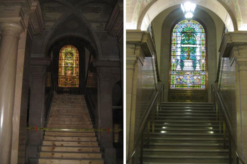 The $70 million project included restoration of lighting, floors and glasswork.