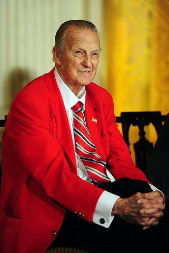 Stan Musial after receiving the Presidential Medal of Freedom in 2011