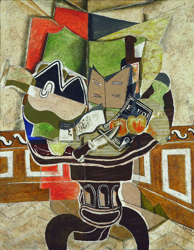 Georges Braque, The Round Table, 1929. Oil, sand, and charcoal on canvas,