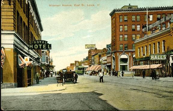 East St. Louis historical postcard