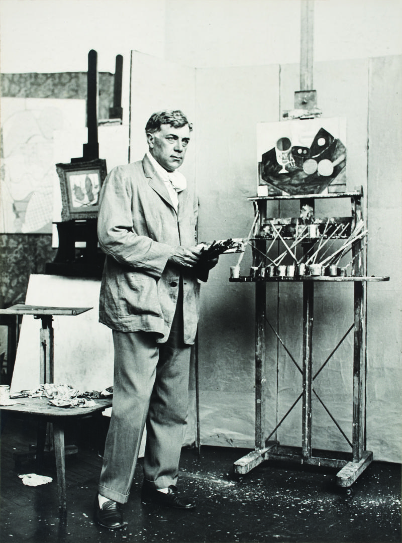Georges Braque in his studio in 1931.