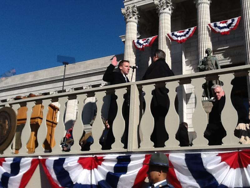 Jason Kander (D) is sworn in as Mo. Secretary of State.